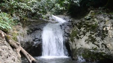 Krok E Dok Waterfall in tropical rain forest, Saraburi Thailand. nature background.
