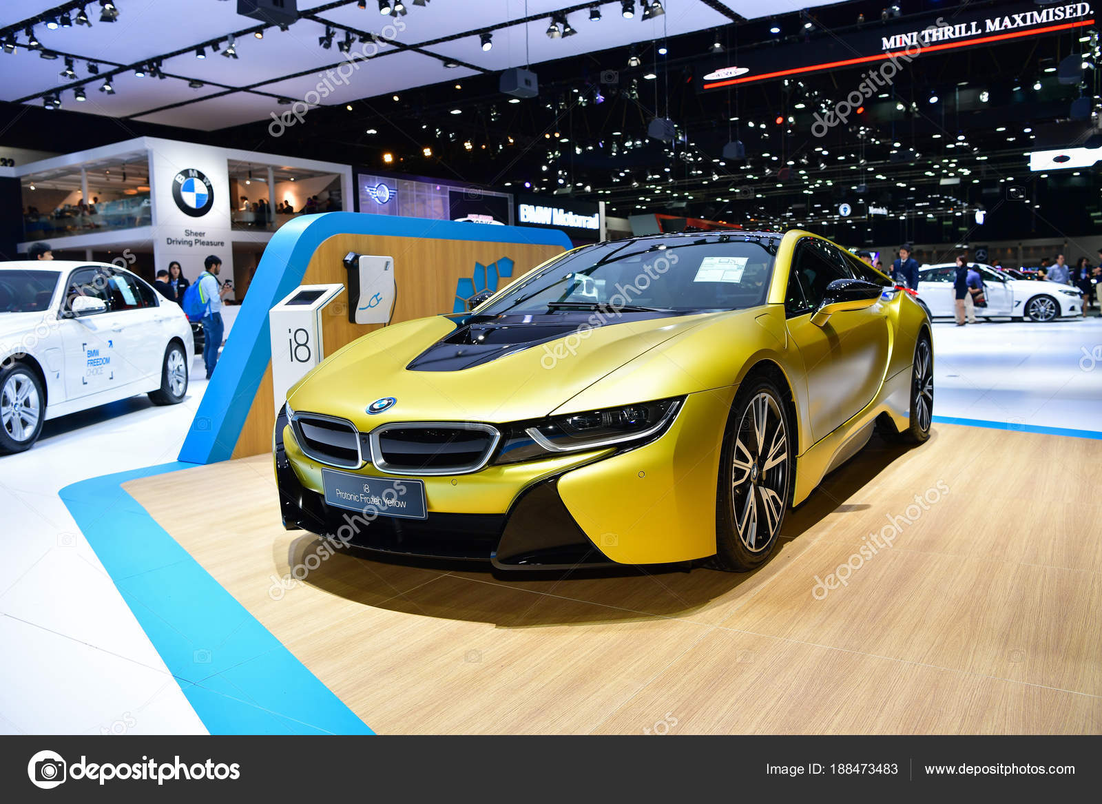 Bmw I8 Protonic Frozen Yellow Car Stock Editorial Photo C Chatchai