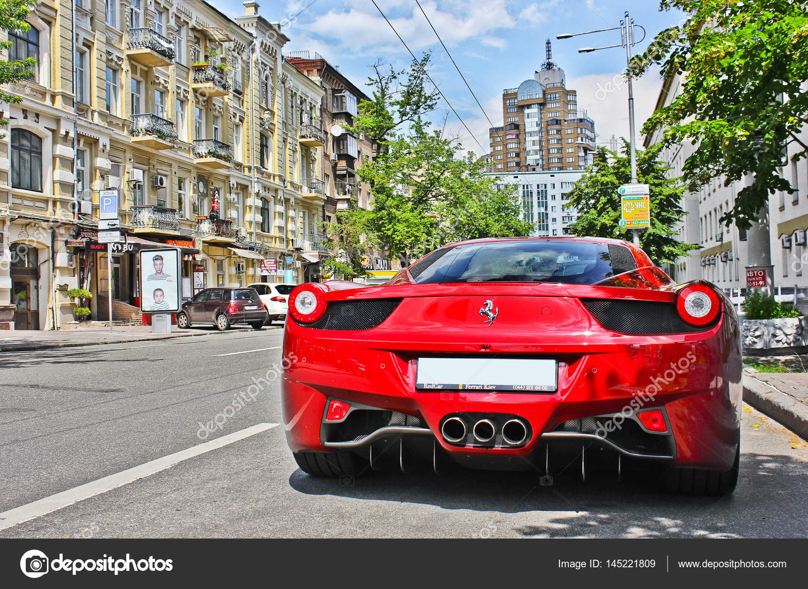 Kiev Ukraine June 10 2013 Ferrari 458 Italia In The City Red Ferrari Editorial Photo Stock Editorial Photo C Amor7 145221809