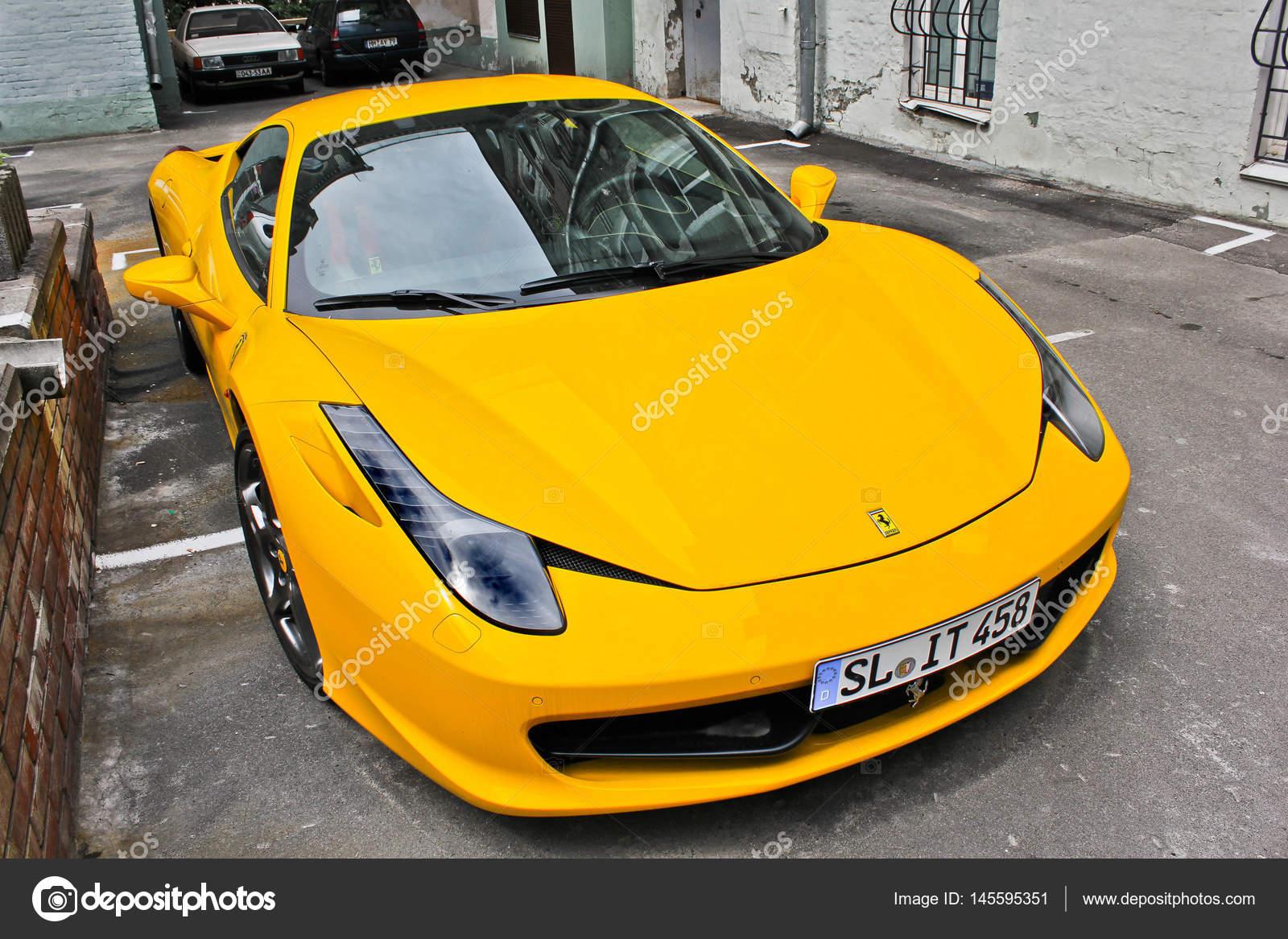 Kiev Ukraine April 29 2014 Ferrari 458 Italia Yellow Editorial Photo Stock Editorial Photo C Amor7 145595351