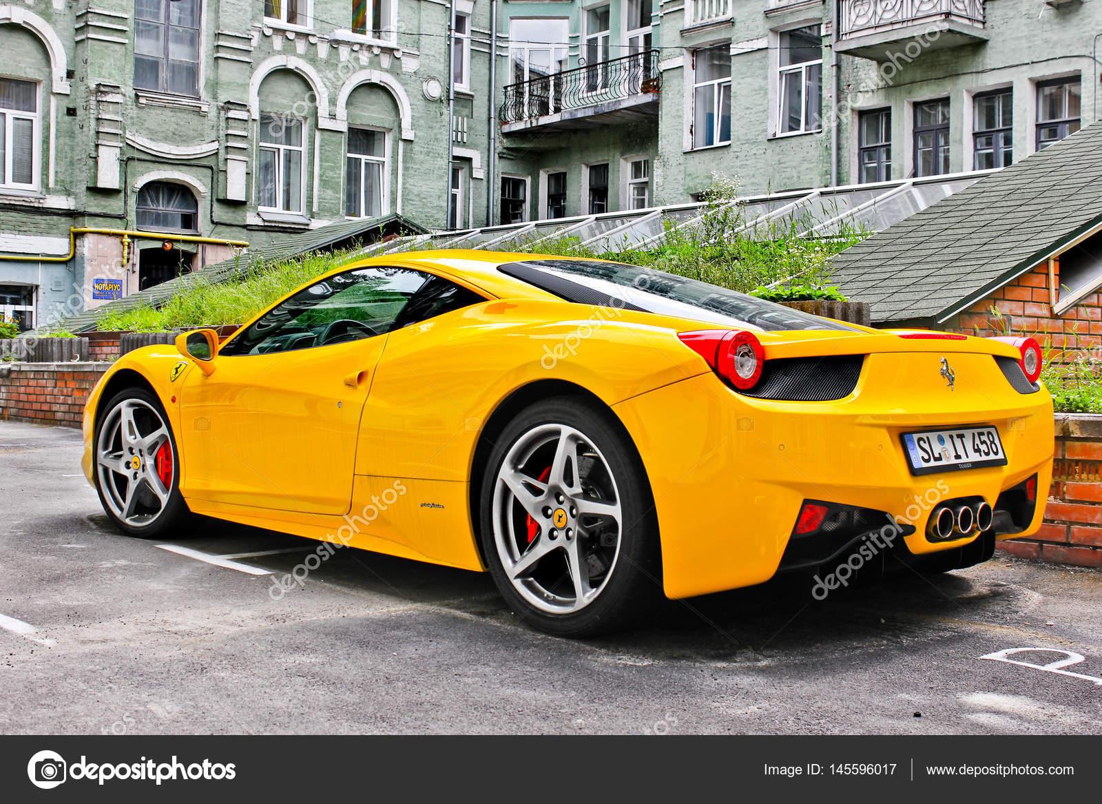 Kiev Ukraine April 29 2014 Ferrari 458 Italia Yellow Editorial Photo Stock Editorial Photo C Amor7 145596017