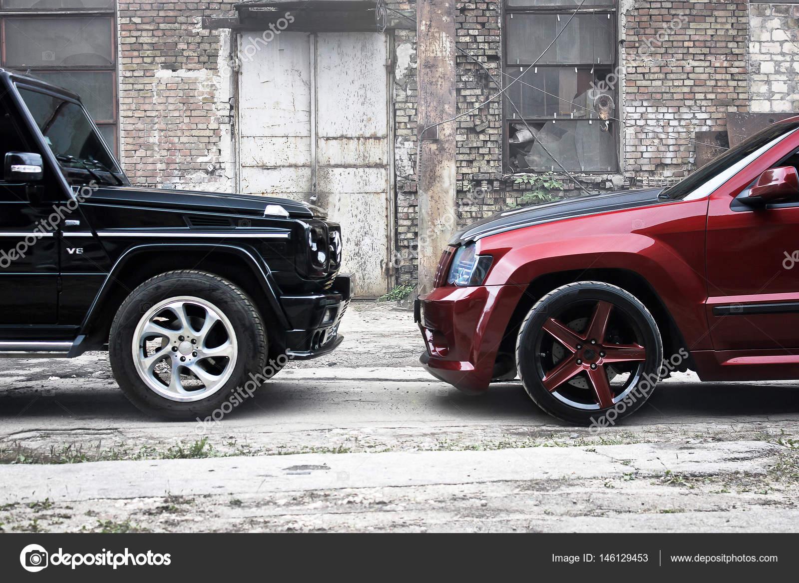 Kiev, Ucrânia; 30 De Junho, A Mercedes Benz G55 Amg E Editorial