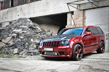 Kiev, Ukraine;  September 4, Jeep Grand Cherokee SRT8. Editorial photo.