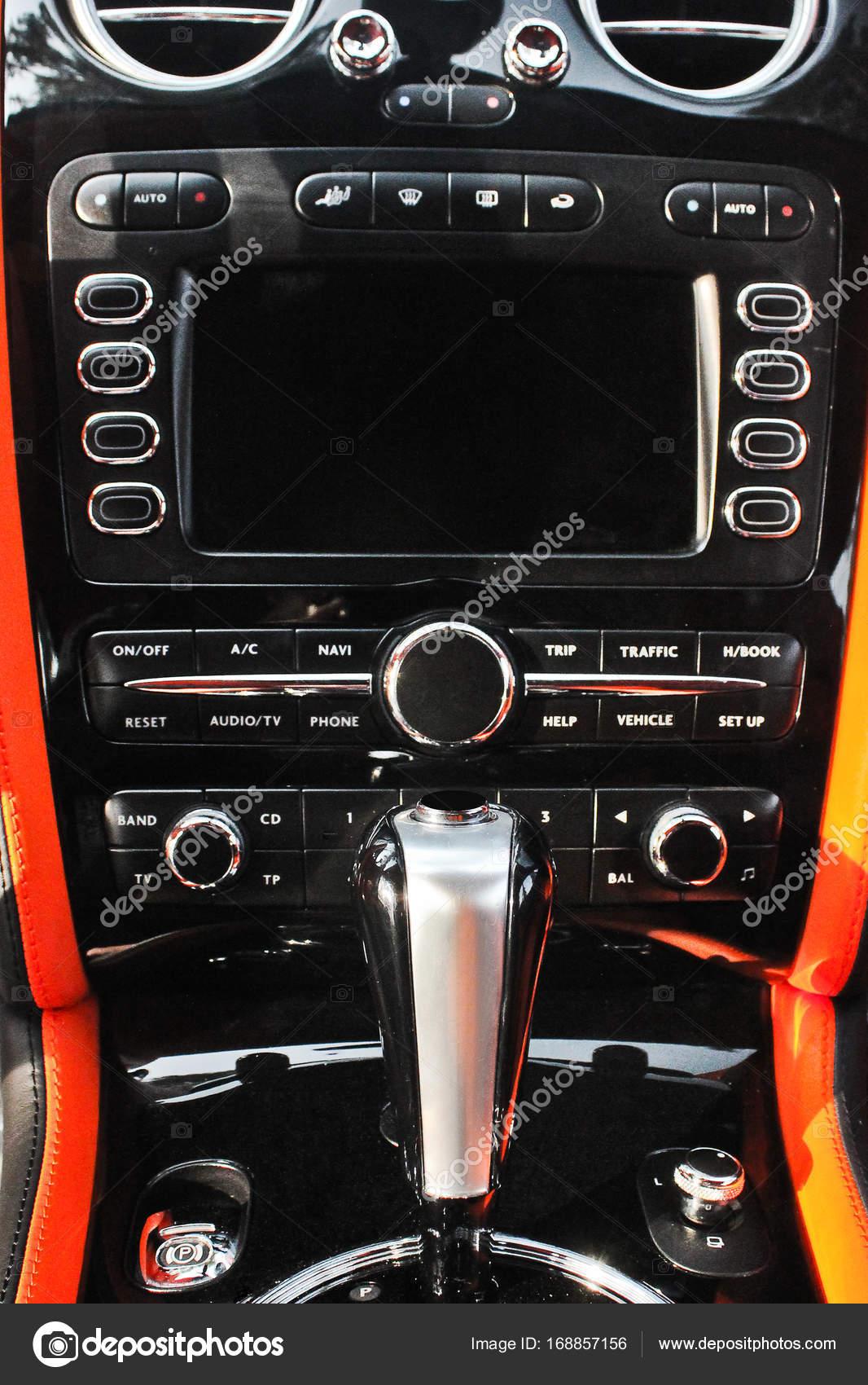 Schalthebel. Tuning. Karbon. Europa. Moderne Auto-Automatik-Getriebe ...