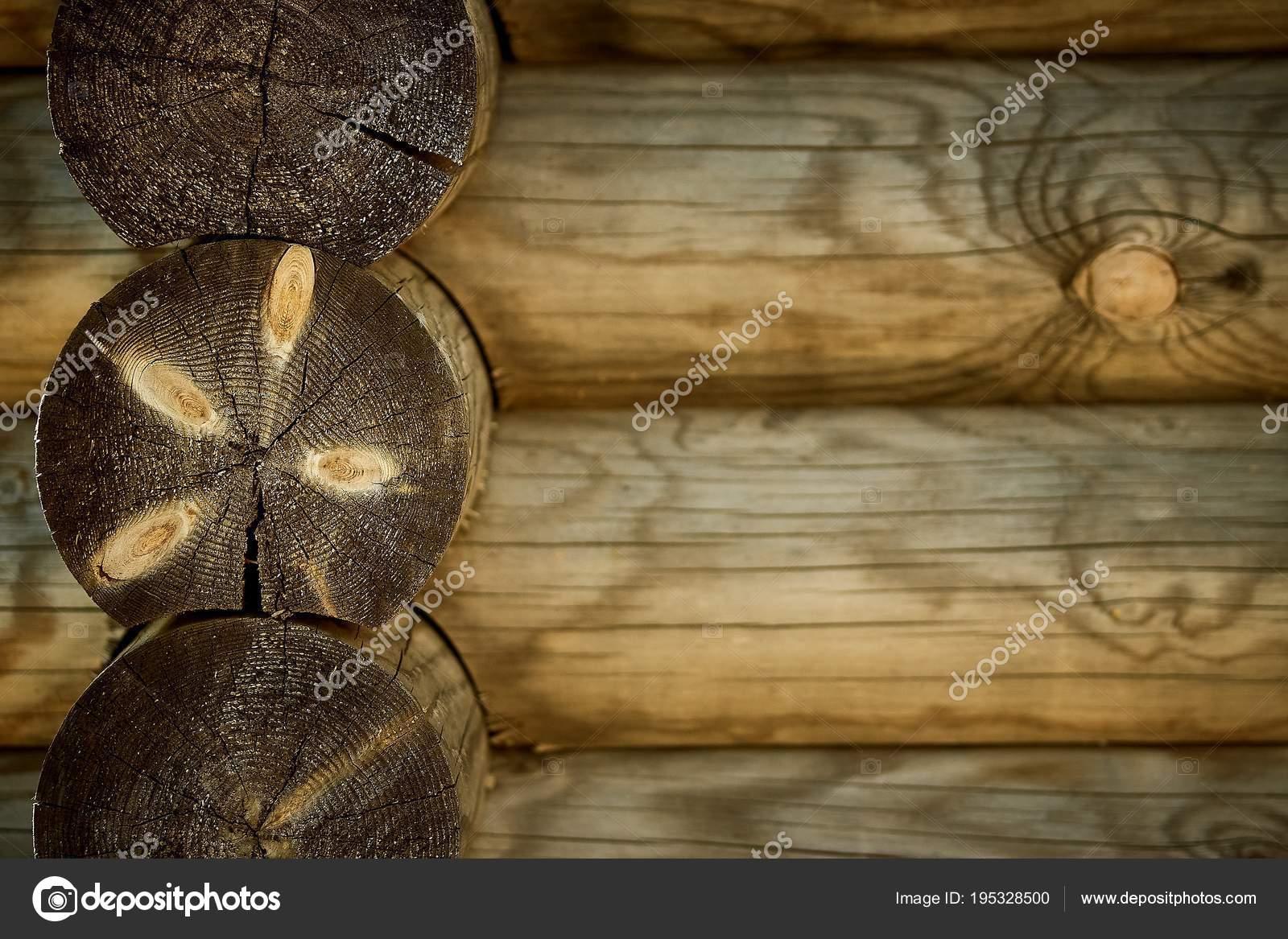 Bouclier Avec Un Grand Nombre De Texture Parallele Billots En Bois Image