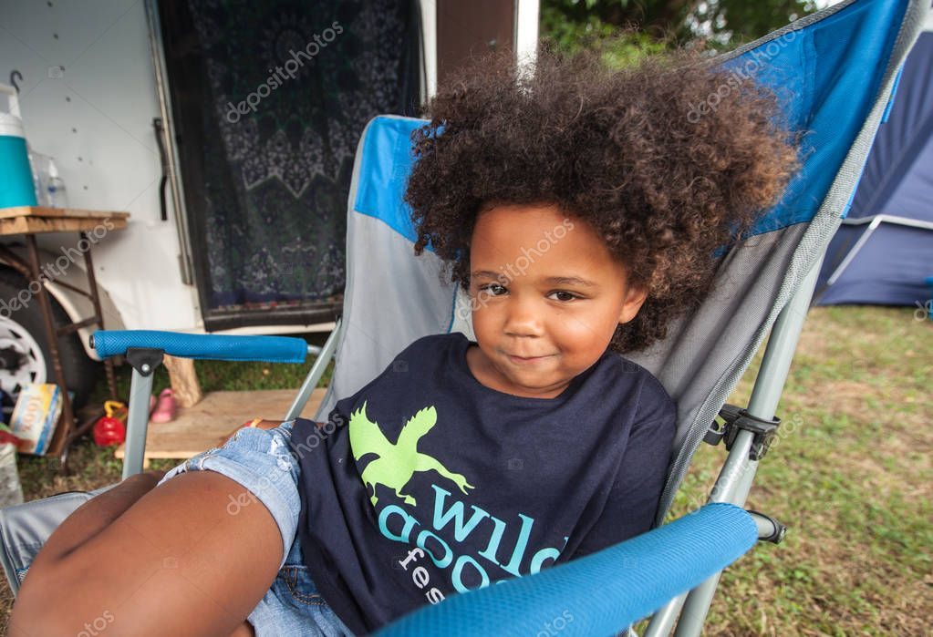 Girl in Chair at the Wild Goose Festival