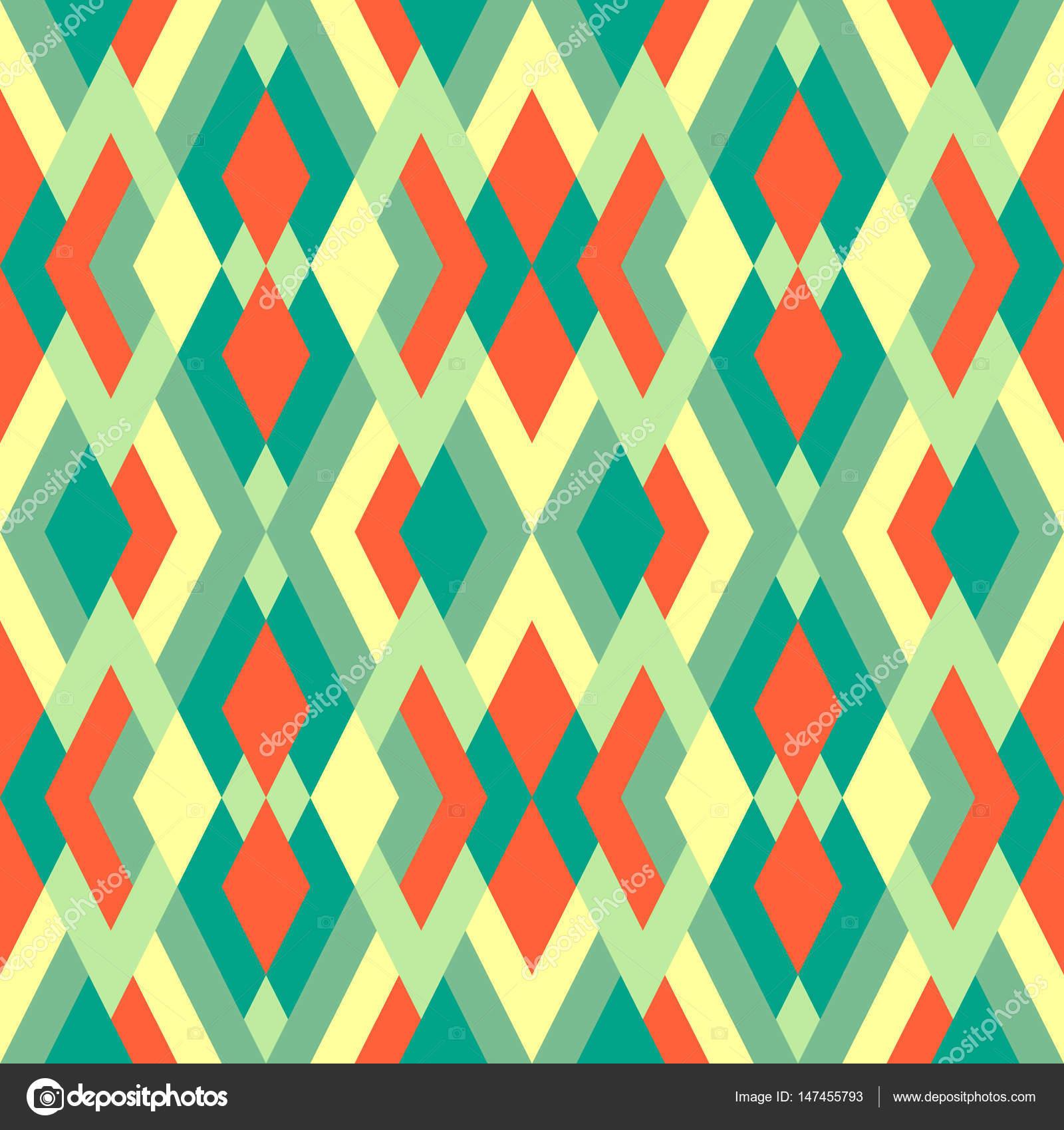 Abstrakte einfache nahtlose Muster für Design in grünen, gelben und ...