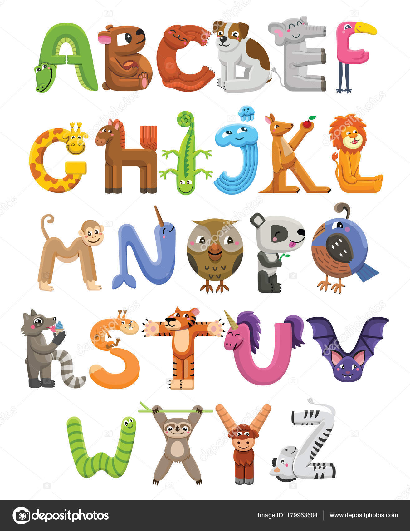4 letter animals animado abecedario abecedario zoo alfabeto animal 20099 | depositphotos 179963604 stock illustration zoo alphabet animal alphabet letters