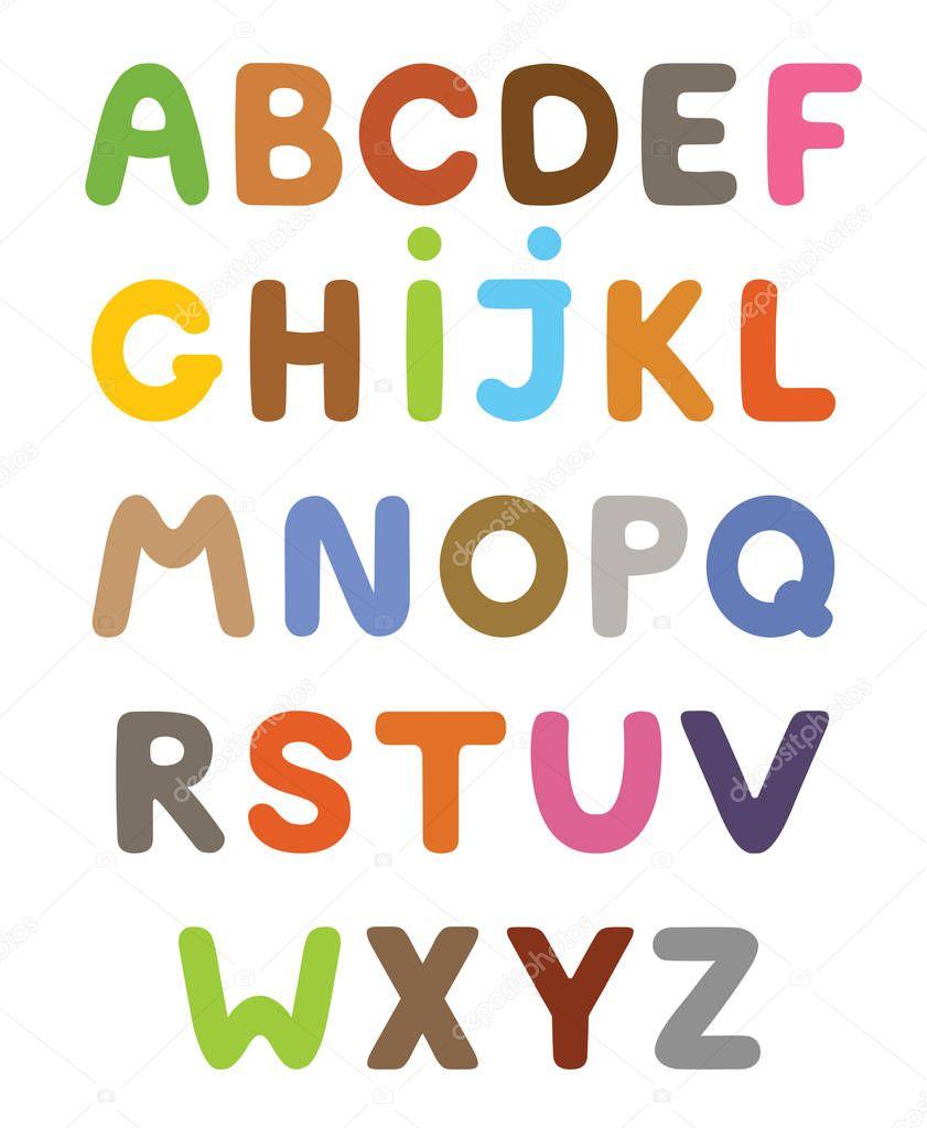 lustige bunte comicalphabet alphabetische buchstaben abc