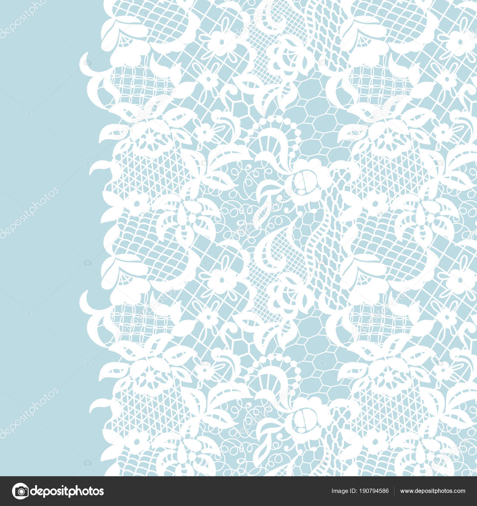 Seamless lace border invitation card stock vector comotom0 seamless lace border invitation card stock vector stopboris Image collections