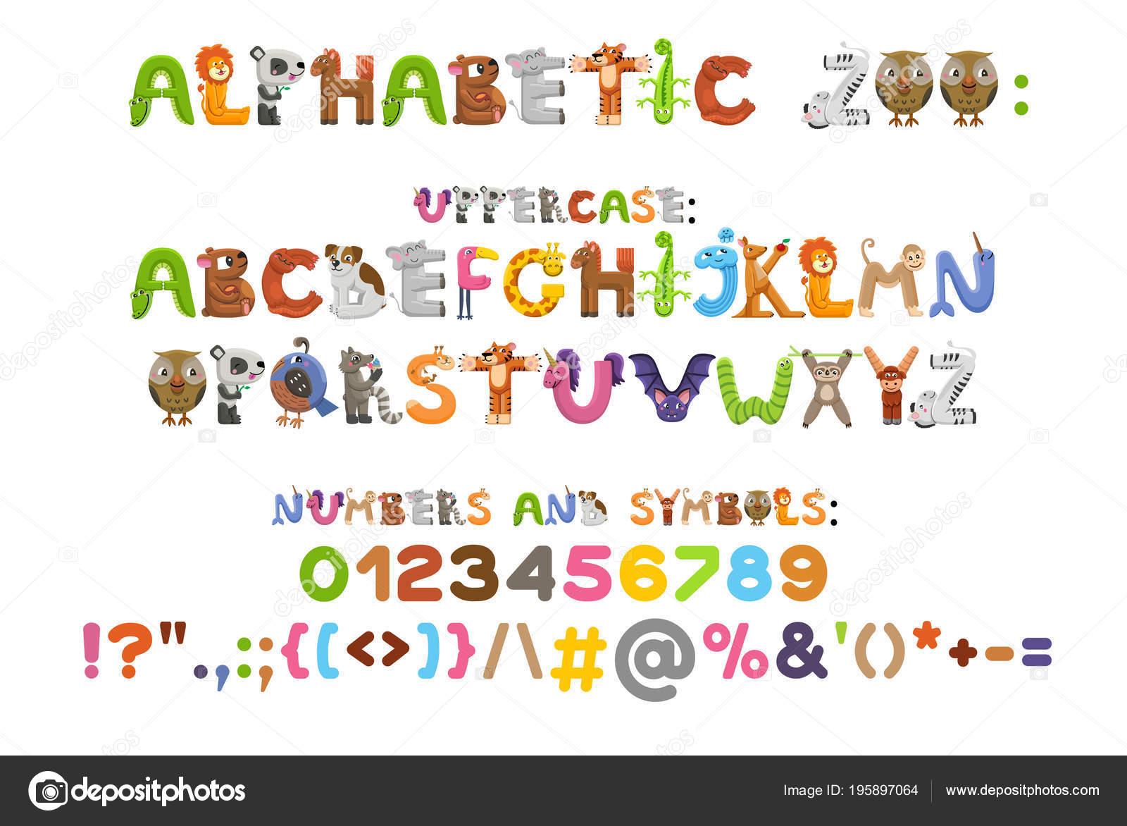 Zoo alphabet  Animal alphabet  Letters from A to Z  Cartoon