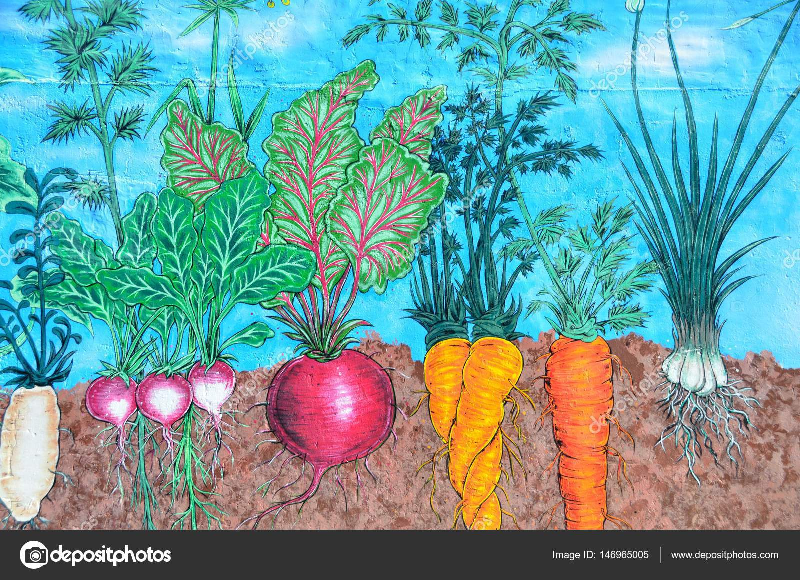 Pleasing Vegetable Garden Mural Stock Editorial Photo C Howdy76 Download Free Architecture Designs Jebrpmadebymaigaardcom