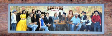 Country Music Legends Wall Mural