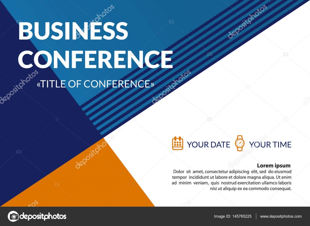 Business conference invitation concept colorful simple geometric business conference invitation concept colorful simple geometric background template for banner poster stopboris Choice Image
