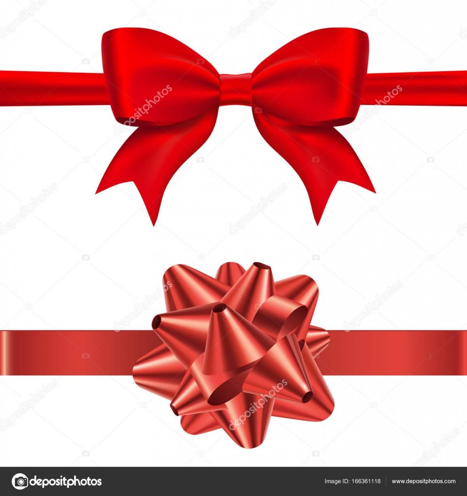 cadeau rouge noeud papillon et l arc conique avec ribon horizontal isol sur fond blanc. Black Bedroom Furniture Sets. Home Design Ideas