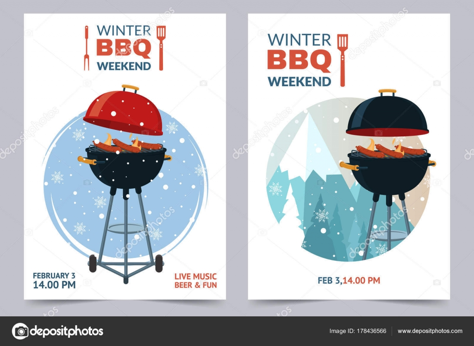 Winter bbq party a4 invitation template barbecue weekend flyer winter bbq party a4 invitation template barbecue weekend flyer grill illustration on snowy backdrop stopboris Choice Image