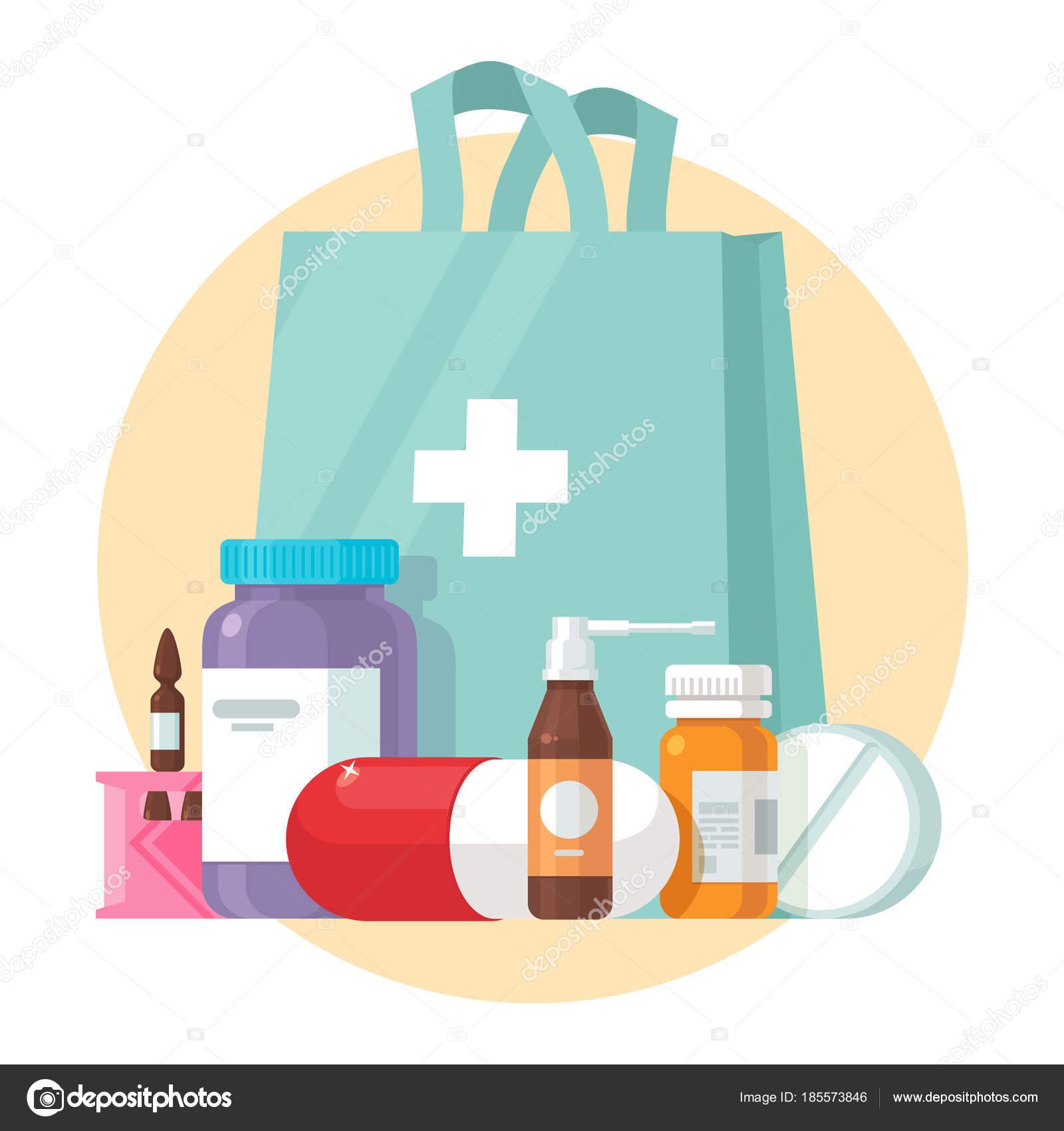 医療用品ボトルの液体錠剤はベクトル漫画イラストです薬局購入