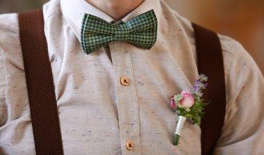 Stylish groom on wedding