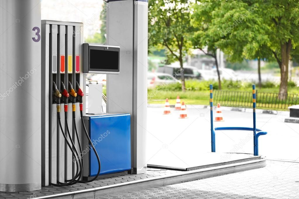 Modern petrol station