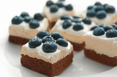 Delicious blueberry cakes