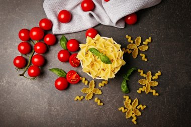 Plate with farfalle pasta