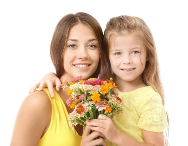 Cute girl with mother