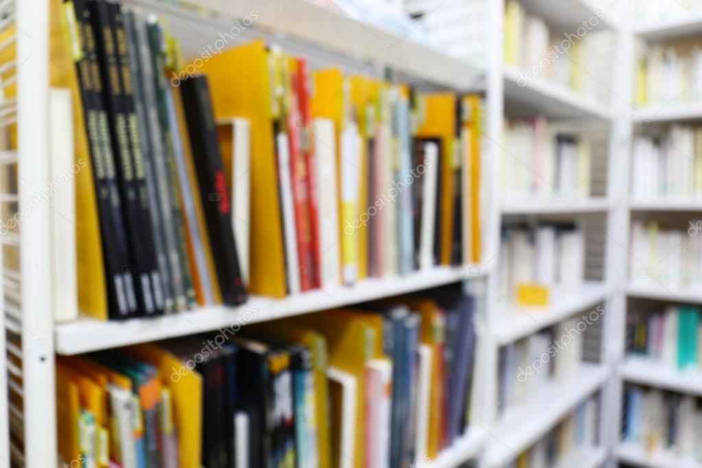 modern library bookshelves full of books stock photo - Library Bookshelves