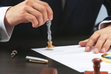 Notary public in office