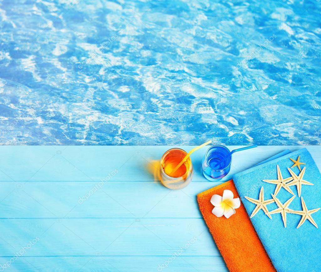 Praia de ver o em fundo de gua de piscina stock photo belchonock 126690116 - Agua de piscina ...