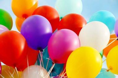 Colorful birthday balloons