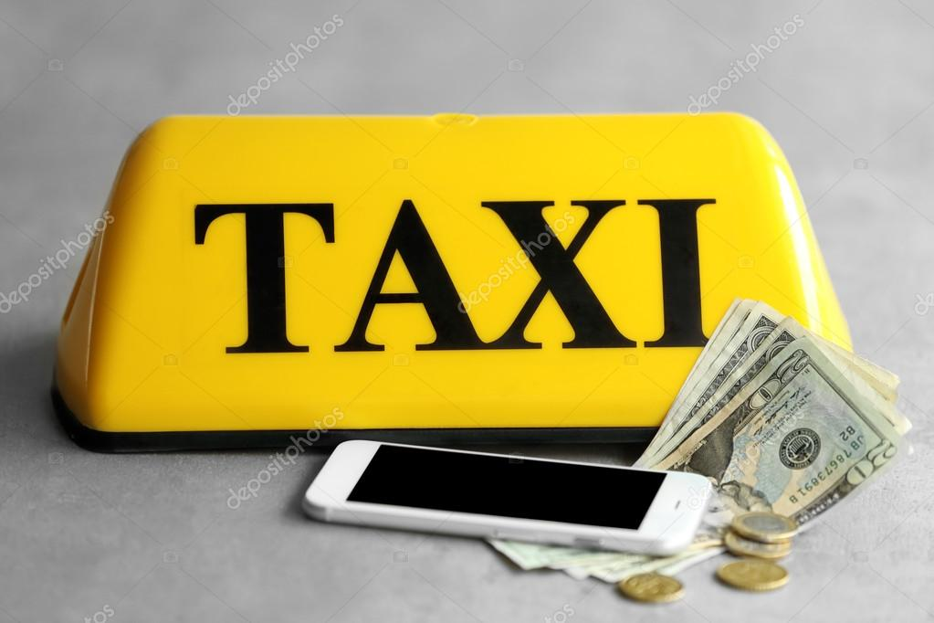 lut taxi st e n cedulka s telefonem a pen ze na ed m. Black Bedroom Furniture Sets. Home Design Ideas