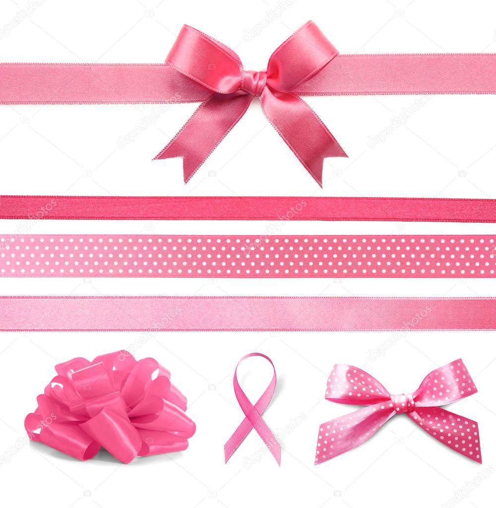 Set of festive ribbons