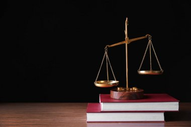 justice attributes on wooden table