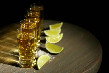Gold tequila shots