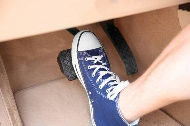Foot pressing pedal