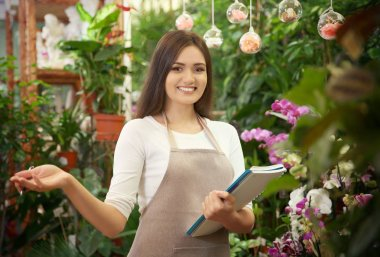 Pretty young florist