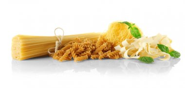 Different kinds of dry pasta