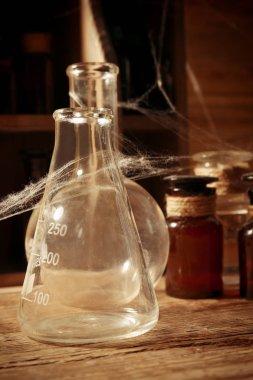 Vintage glass flask