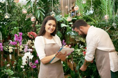 Two florists working