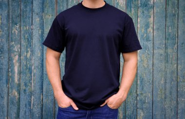 Man in dark t-shirt