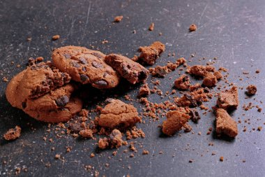 Tasty cookies with chocolate chips