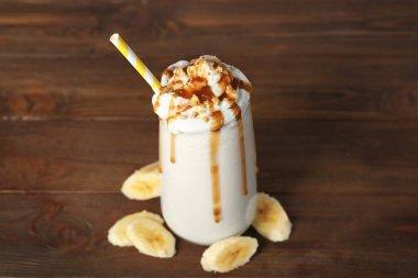 Milk shake with banana