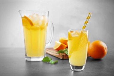refreshing orange drink