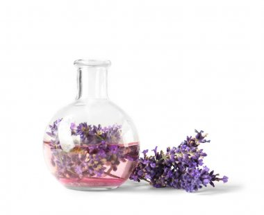 Lavender flowers and vase