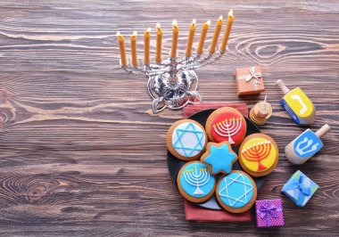 Beautiful composition for Hanukkah