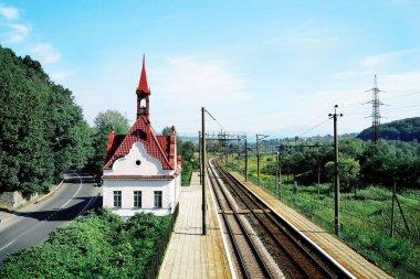 "Картина, постер, плакат, фотообои ""Прекрасный вид железной дороги"", артикул 132014682"
