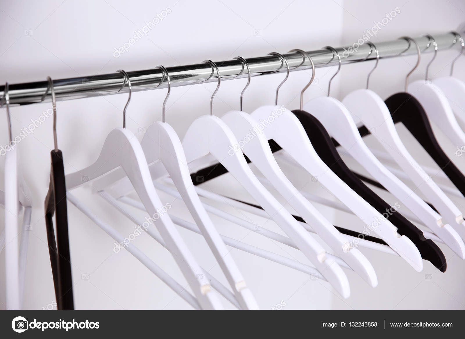 empty closet with hangers. Clothes Hangers In Empty Wardrobe, Closeup \u2014 Photo By Belchonock Closet With