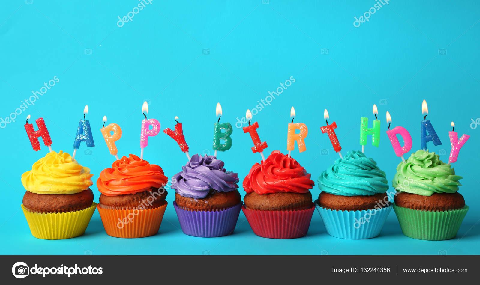 Happy Birthday Blue  Cup Cake