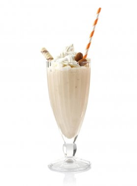 Delicious milkshake in glass