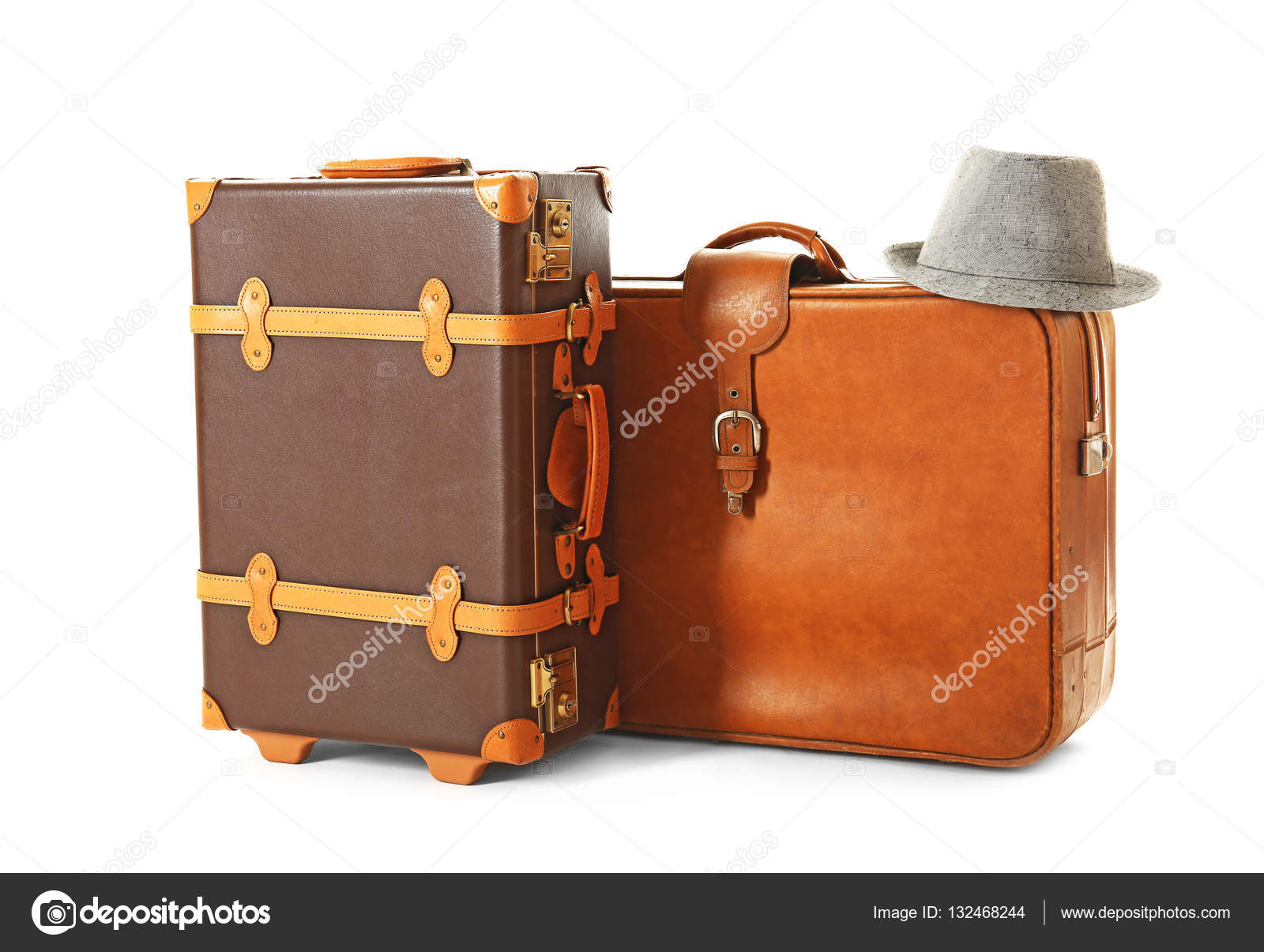 modern suitcases and hat — stock photo © belchonock  - modern suitcases and hat — stock photo